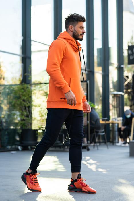 Set Kali-Fit hanorac si pantalon portocaliu/negru [4]