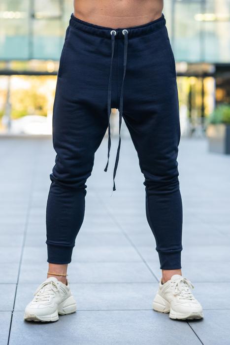 Set Star-Fit hanorac si pantalon conic bleumarin [6]