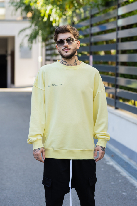Bluza Easy-Fit Oversized galben [0]