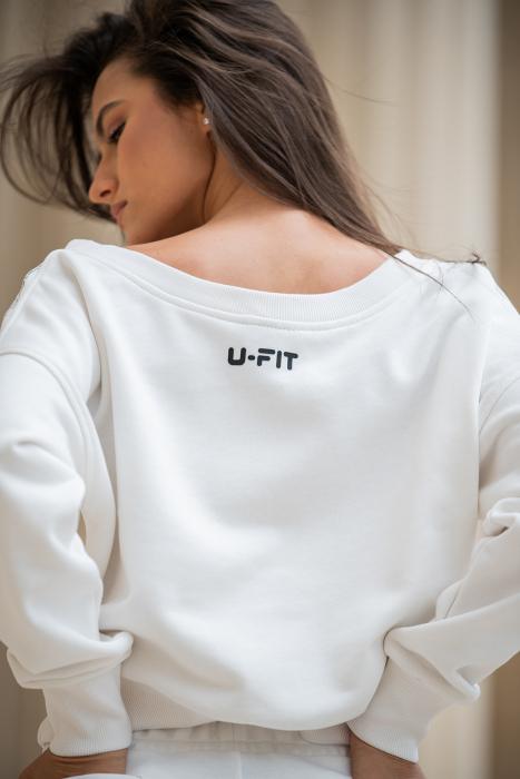Set Undone Bluza si Pantalon Scurt OFF White [8]