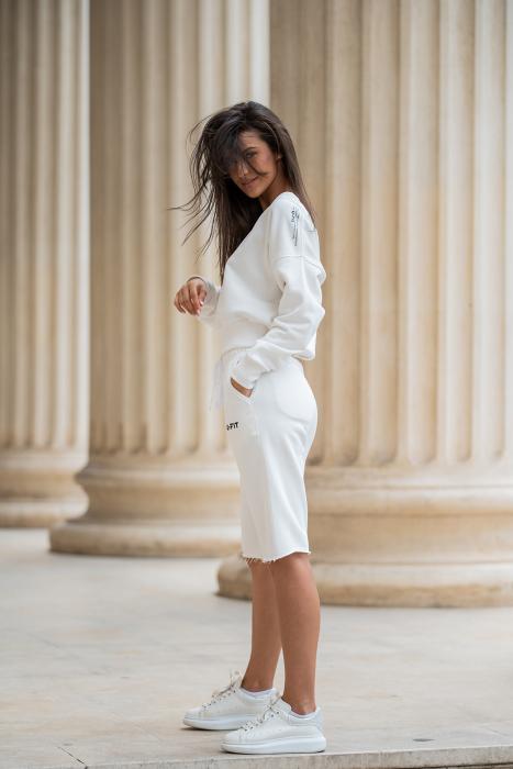 Set Undone Bluza si Pantalon Scurt OFF White [2]