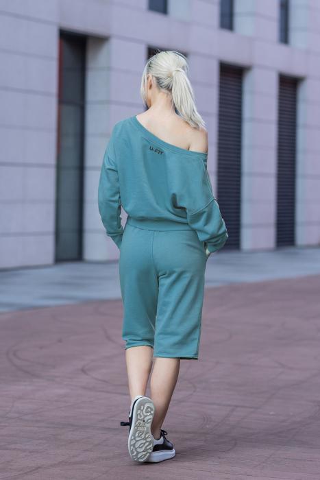 Set Undone Bluza si Pantalon Scurt Dusty Turquoise [8]