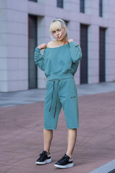 Set Undone Bluza si Pantalon Scurt Dusty Turquoise [5]