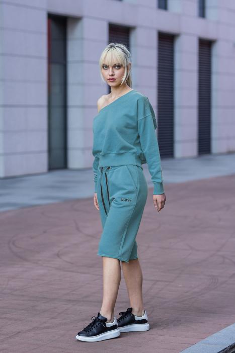 Set Undone Bluza si Pantalon Scurt Dusty Turquoise [1]