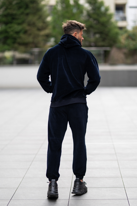 Set Velvet California hanorac si pantalon bleumarin [6]