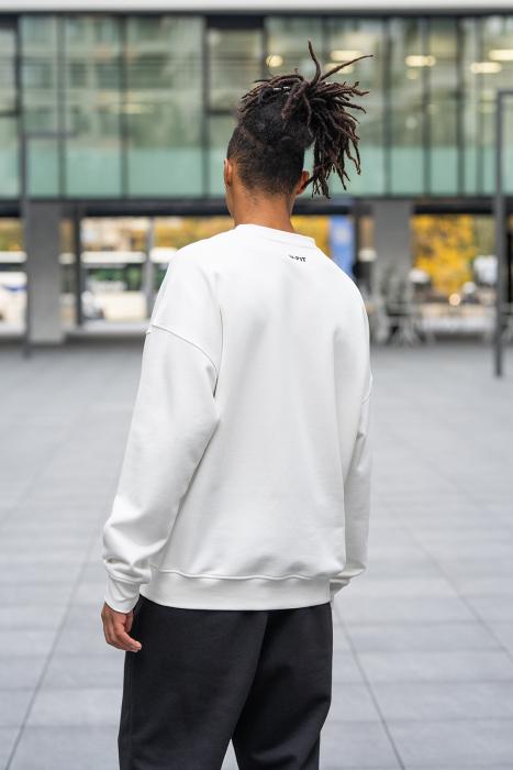 Bluza West Cartel Oversized alb [3]