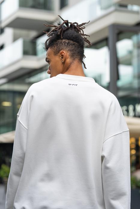 Bluza West Cartel Oversized alb [4]