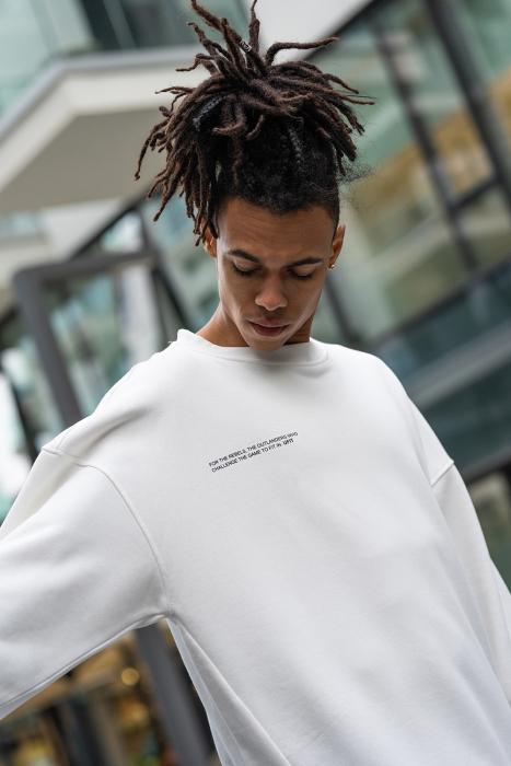 Set West Cartel Bluza Oversized si Pantalon lejer alb/negru [10]