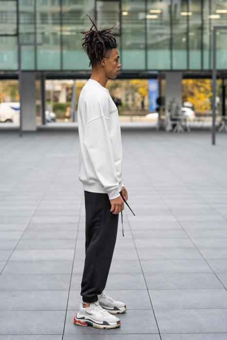 Set West Cartel Bluza Oversized si Pantalon lejer alb/negru [1]