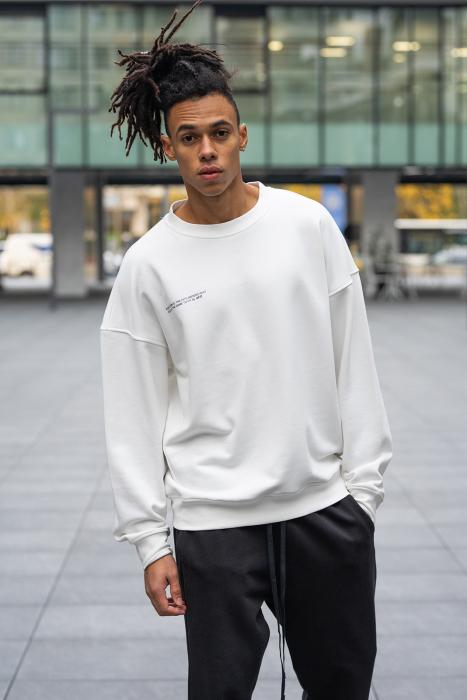 Set West Cartel Bluza Oversized si Pantalon lejer alb/negru [7]