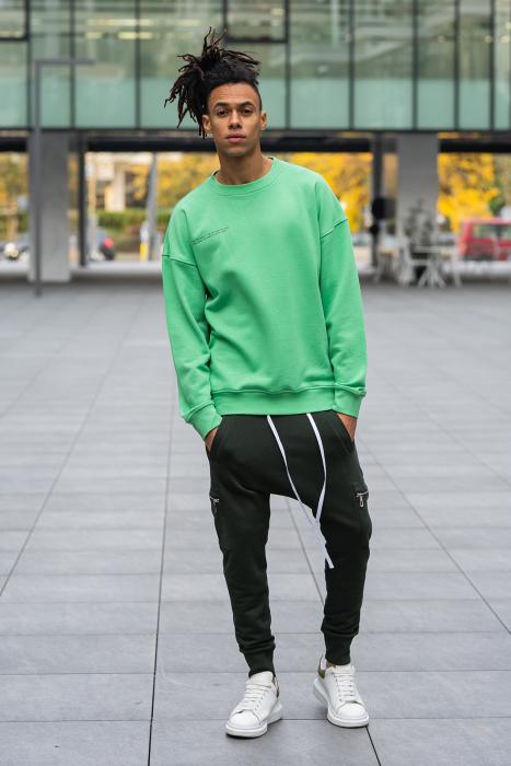 Bluza West Cartel Oversized Green [4]