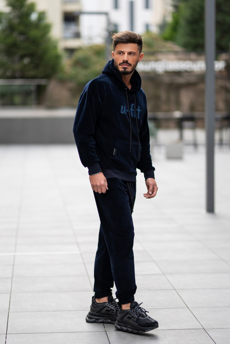 Set Velvet California hanorac si pantalon bleumarin [3]