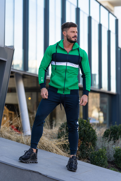 Trening bumbac Care-Fit Green/Navy [0]