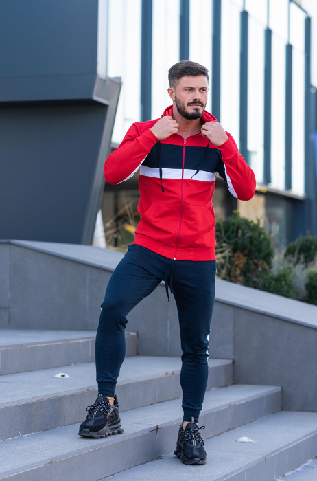 Trening bumbac Care-Fit True Red/Navy [1]