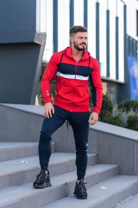 Trening bumbac Care-Fit True Red/Navy [0]