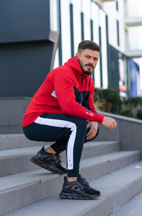 Trening bumbac Care-Fit True Red/Navy [5]