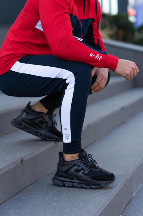 Trening bumbac Care-Fit True Red/Navy [6]