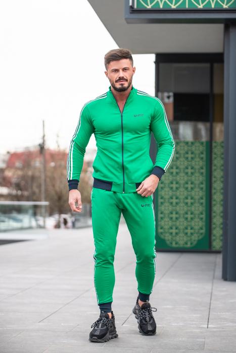 Trening bumbac Stripe-Fit Verde [4]