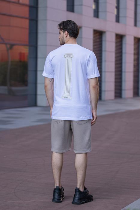 Tricou Barbati Column White [9]