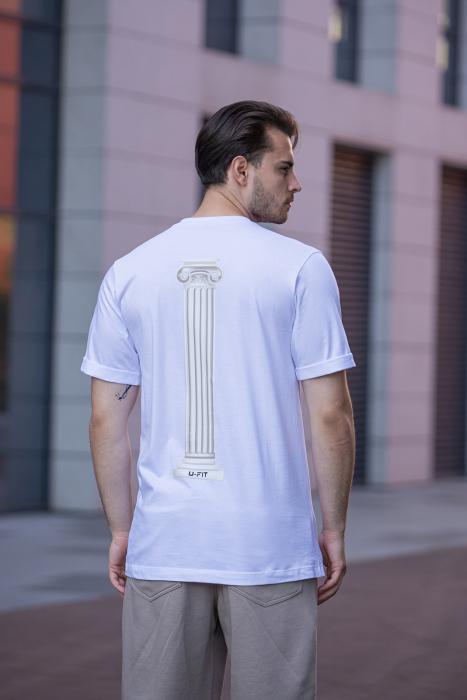 Tricou Barbati Column White [0]
