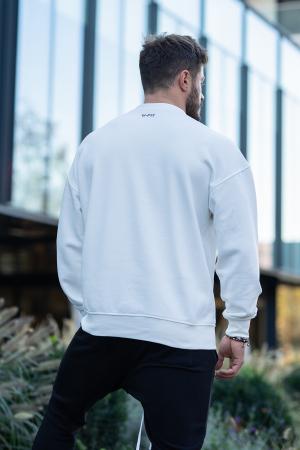 Bluza Easy-Fit imprimata White [1]