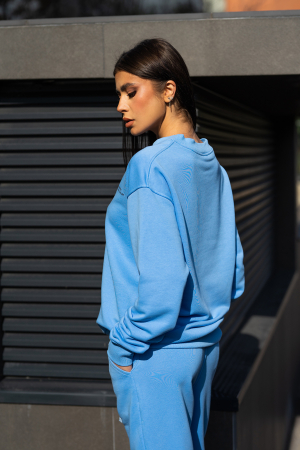 Bluza Easy-Fit Oversized Aqua Blue [2]