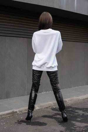 Bluza Imprimata Oversized Easy-Fit Off White [2]