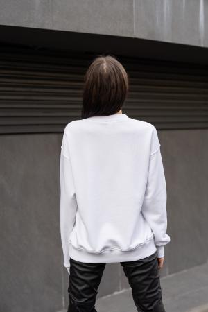 Bluza Imprimata Oversized Easy-Fit Off White [1]