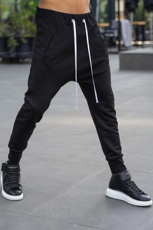 Pantalon cu turul lasat negru [1]