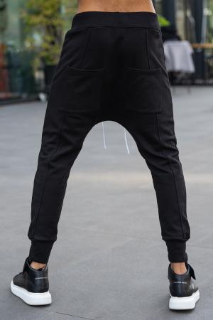 Pantalon cu turul lasat negru [2]