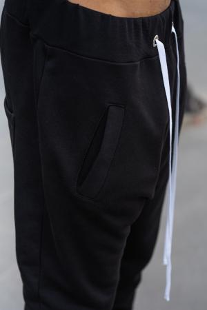 Pantalon cu turul lasat negru [3]