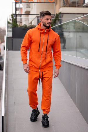 Set Rock-Fit hanorac si pantalon lejer portocaliu [0]