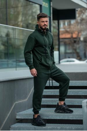 Set Rock-Fit hanorac si pantalon lejer dark green [3]