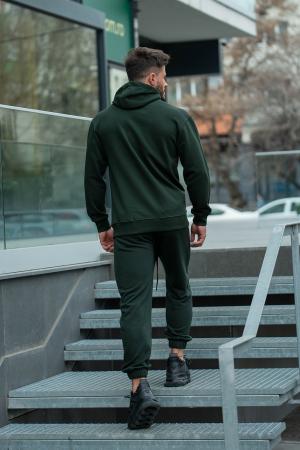 Set Rock-Fit hanorac si pantalon lejer dark green [6]