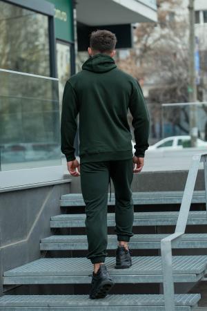 Set Rock-Fit hanorac si pantalon lejer dark green [5]