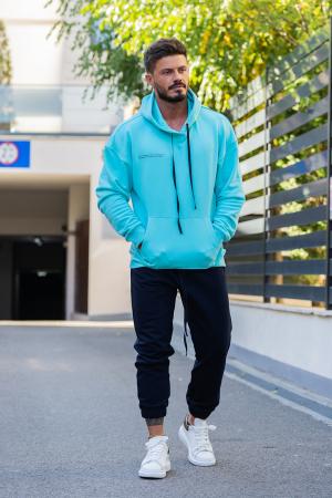 Hanorac Oversized Easy-Fit bleu [4]
