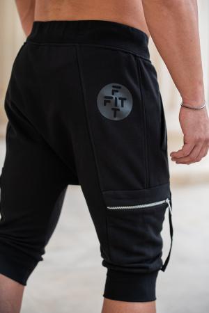 Pantalon Scurt Cargo cu turul lasat Black [4]