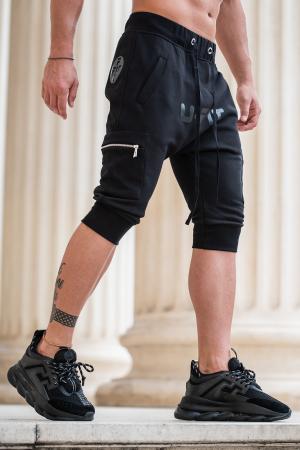 Pantalon Scurt Cargo cu turul lasat Black [1]