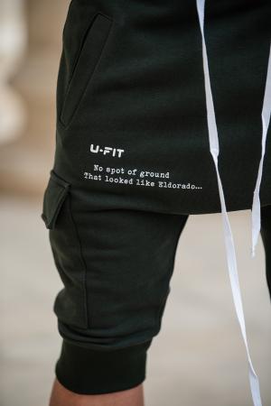 Pantalon Scurt Cargo cu turul lasat Dark Green [2]