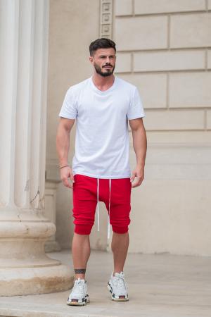 Pantalon Scrut cu turul lasat rosu [5]