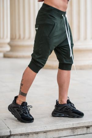 Pantalon scurt cu tur lasat Dark Green [1]