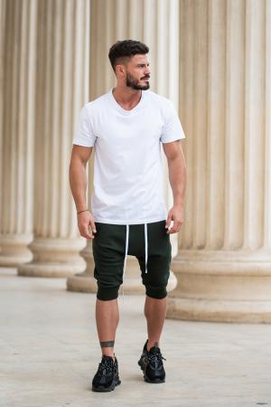 Pantalon scurt cu tur lasat Dark Green [6]
