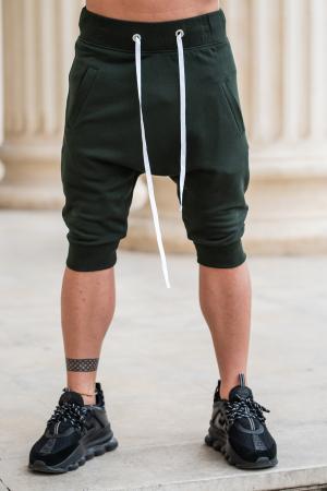 Pantalon scurt cu tur lasat Dark Green [0]