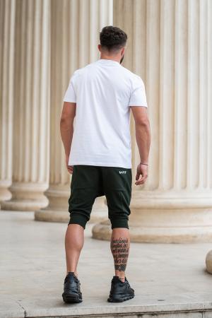 Pantalon scurt cu tur lasat Dark Green [7]