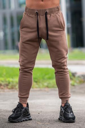 Pantalon Conic cu tur lasat Brown [0]