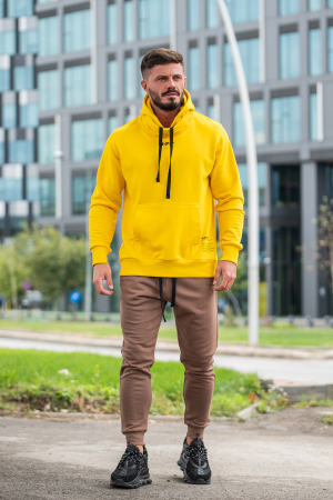 Pantalon Conic cu tur lasat Brown [5]
