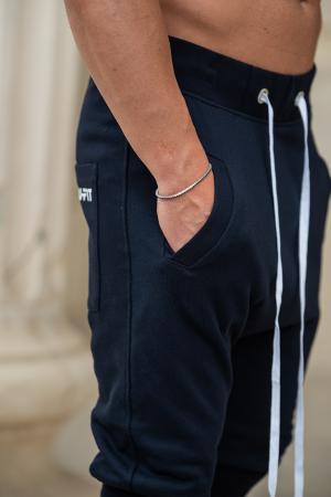 Pantalon Scurt cu turul lasat bleumarin [4]