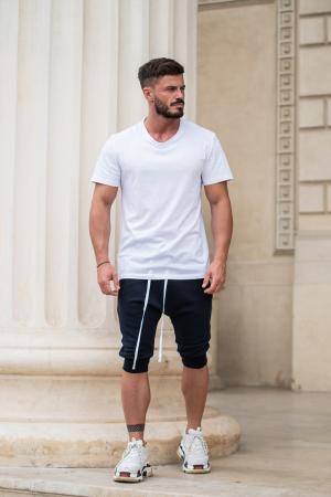Pantalon Scurt cu turul lasat bleumarin [6]