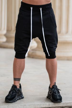 Pantalon scurt cu turul lasat negru [0]
