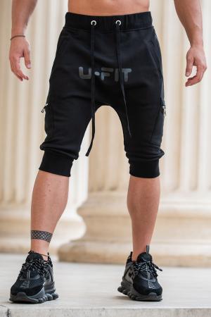 Pantalon Scurt Cargo cu turul lasat Black [10]